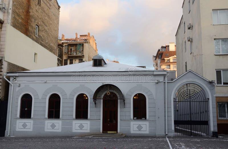美丽的老正统犹太寺庙(犹太教堂),傲德萨,乌克兰 图库摄影