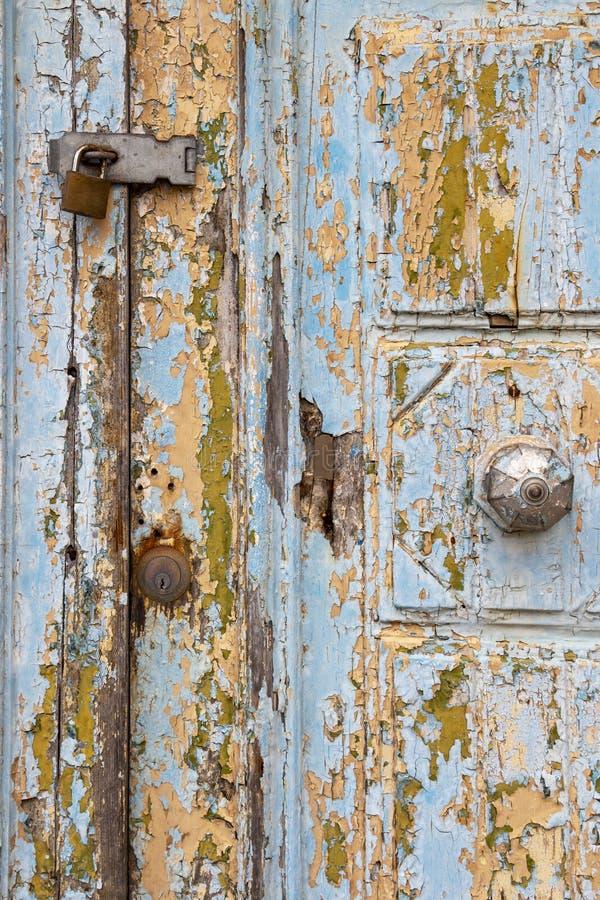 美丽的老门在拉巴特,马耳他,细节 图库摄影