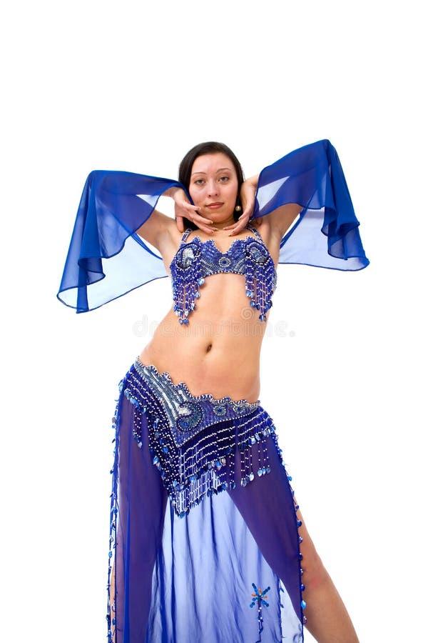 美丽的肚皮舞表演者 免版税库存照片