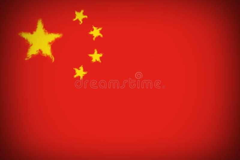 美丽的背景旗子中国特写镜头 皇族释放例证