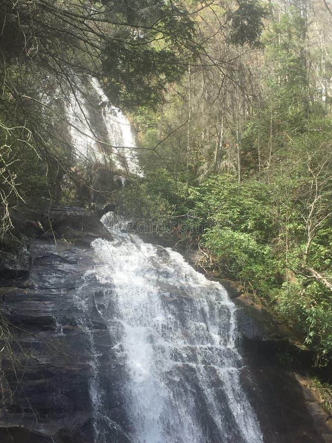 美丽的自然瀑布 免版税库存图片