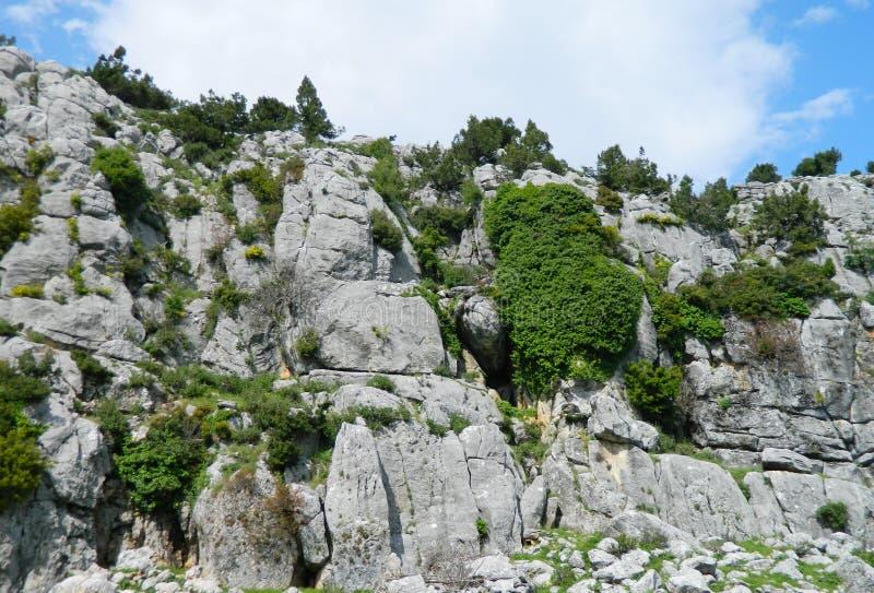 美丽的自然风景峭壁 库存图片