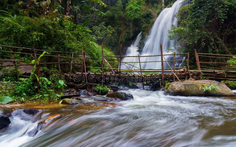 美丽的自然Pha Dokseaw瀑布 免版税库存照片