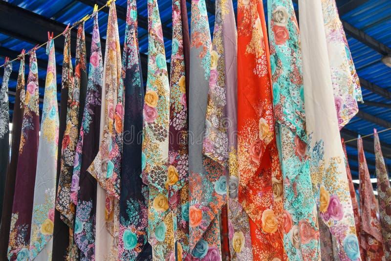 美丽的色的围巾和面纱 库存图片