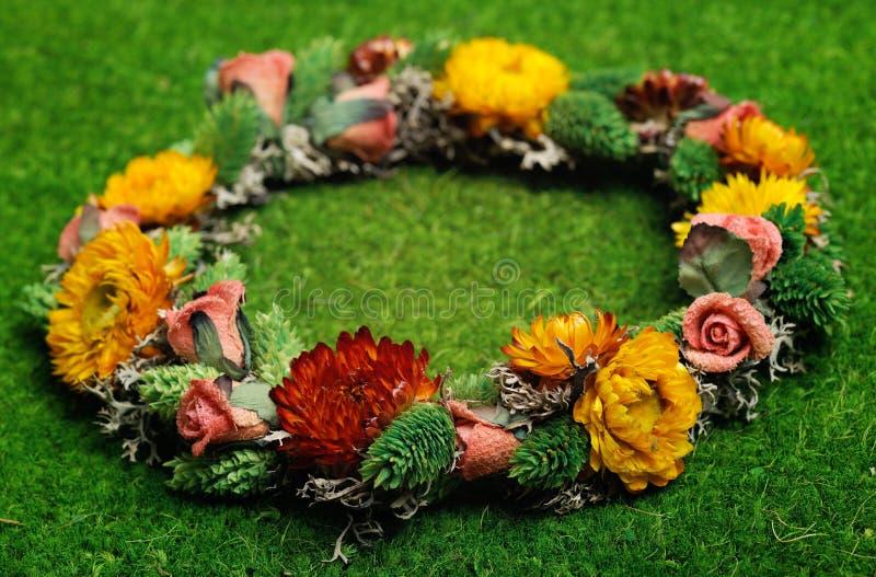 美丽的花卉花圈 库存图片