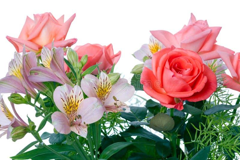 美丽的花花束  免版税库存图片