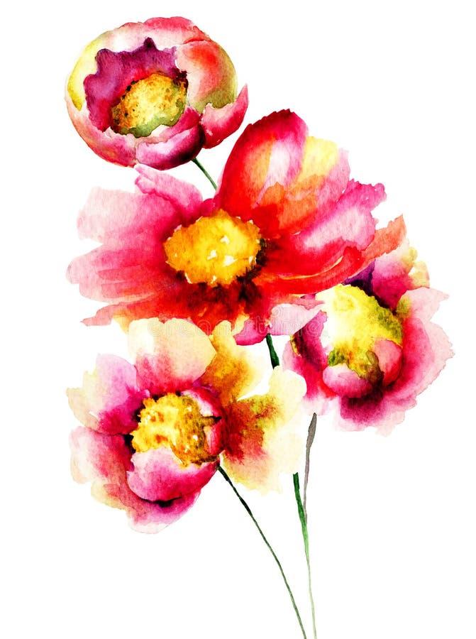 美丽的花 向量例证