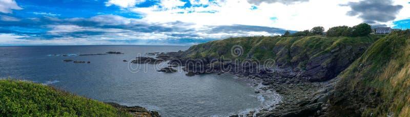 美丽的苏格兰-东海岸全景 库存照片