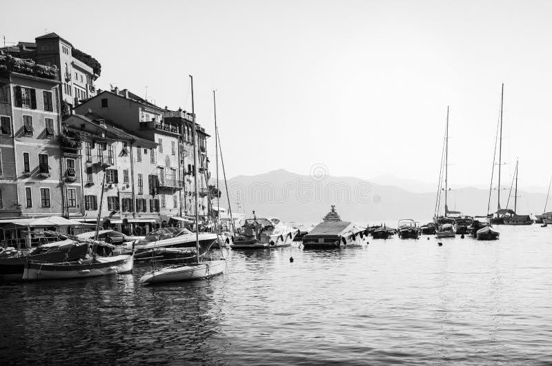 美丽的菲诺港意大利 好的城市在意大利 免版税库存照片