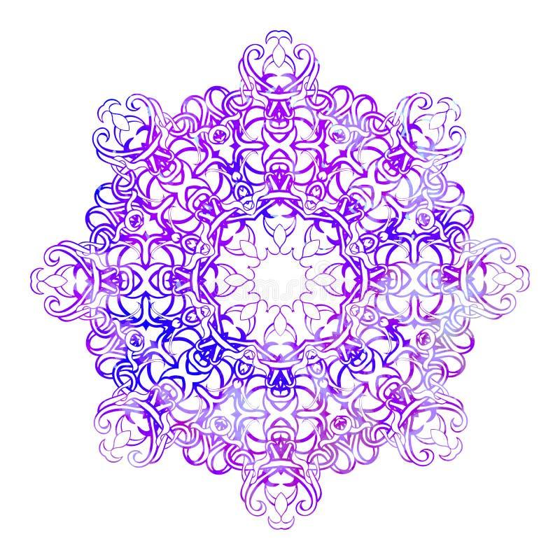 美丽的葡萄酒圆的样式 向量例证
