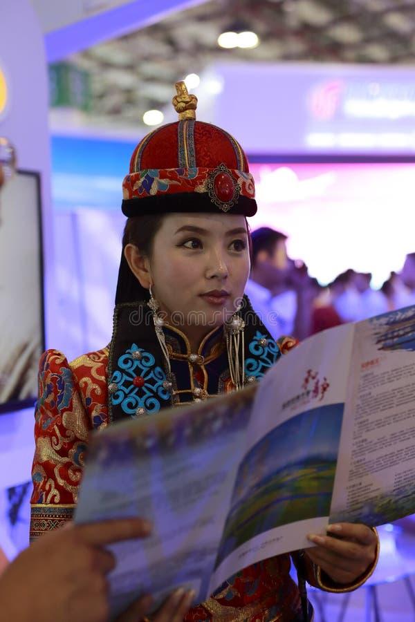 美丽的蒙古女孩 免版税库存图片