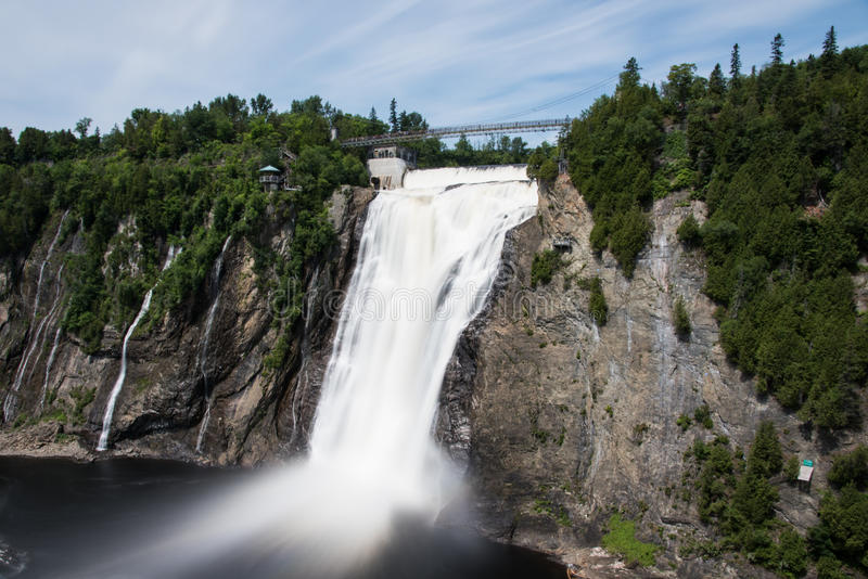 美丽的蒙莫朗西落-魁北克-加拿大 库存照片