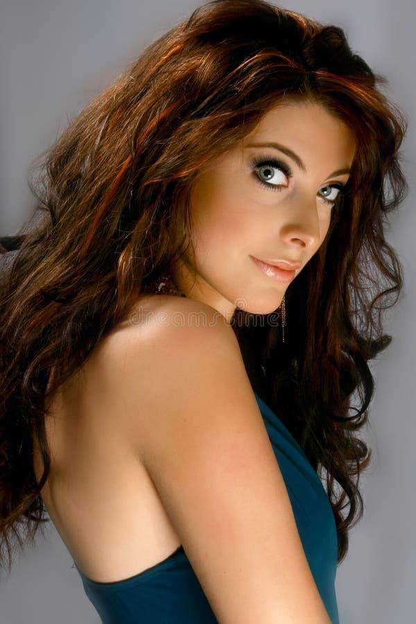 美丽的蓝眼睛妇女 免版税库存图片