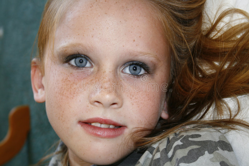 美丽的蓝眼睛 免版税图库摄影