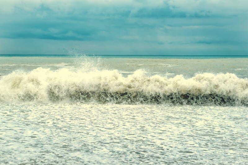 美丽的蓝色挥动与全部海葡萄酒tonet图片 库存照片