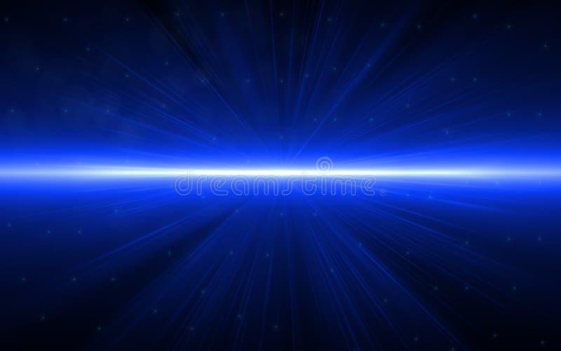 美丽的蓝色数字式透镜火光在黑背景中 皇族释放例证