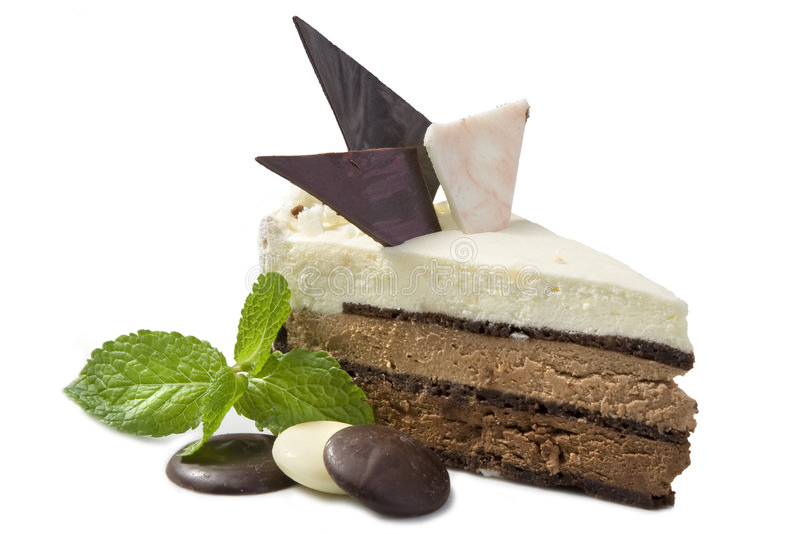美丽的蛋糕巧克力 免版税图库摄影