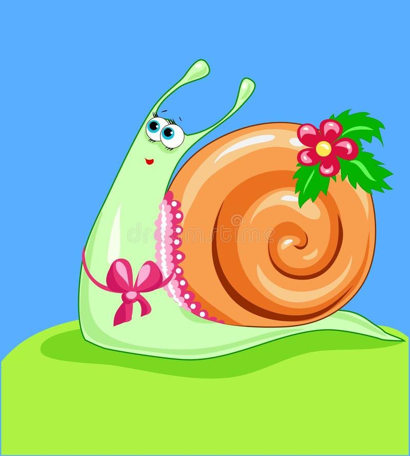 美丽的蜗牛 库存例证