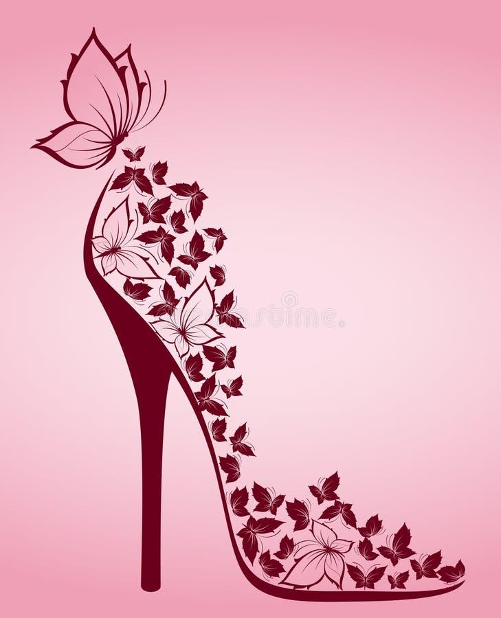 美丽的蝴蝶停顿高 皇族释放例证
