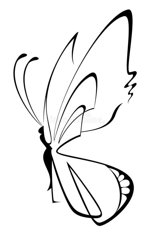 美丽的蝴蝶 皇族释放例证