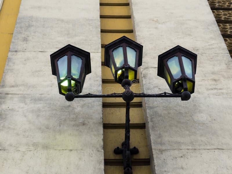 美丽的街道壁灯 库存图片
