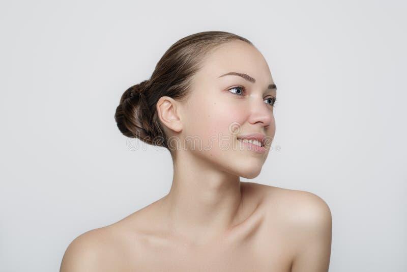 美丽的表面女孩 理想的皮肤 库存照片