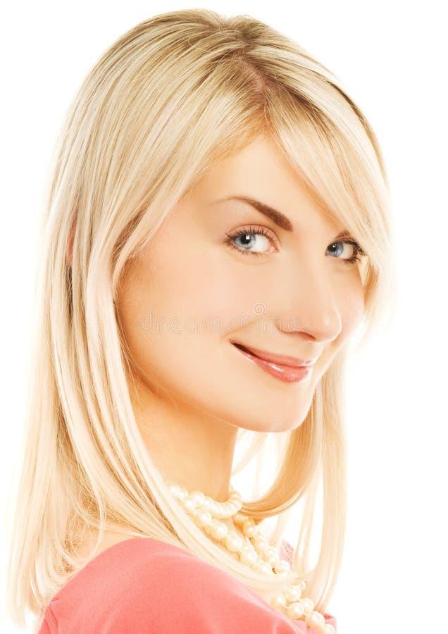 美丽的表面微笑的妇女 免版税库存照片