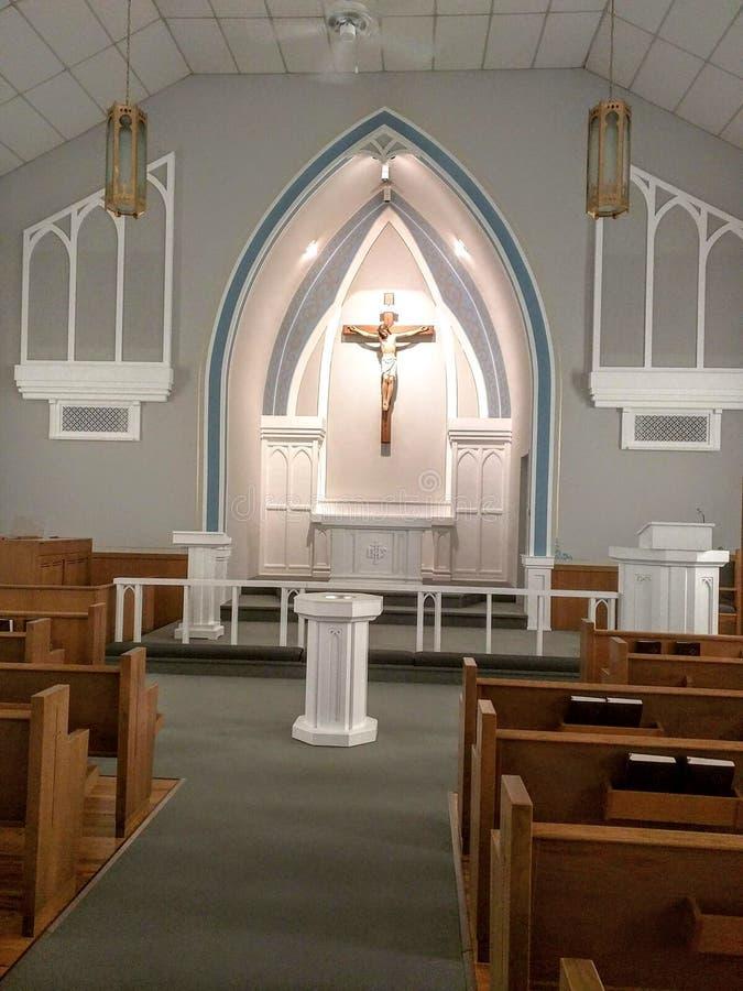 美丽的被恢复的教会-老教会 图库摄影