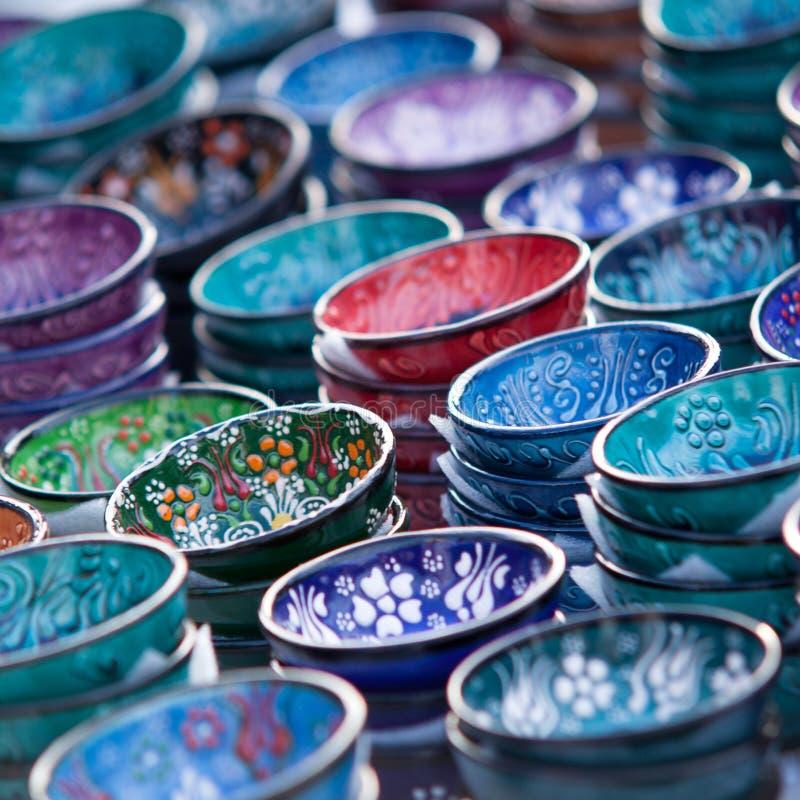 美丽的被绘的碗 库存图片