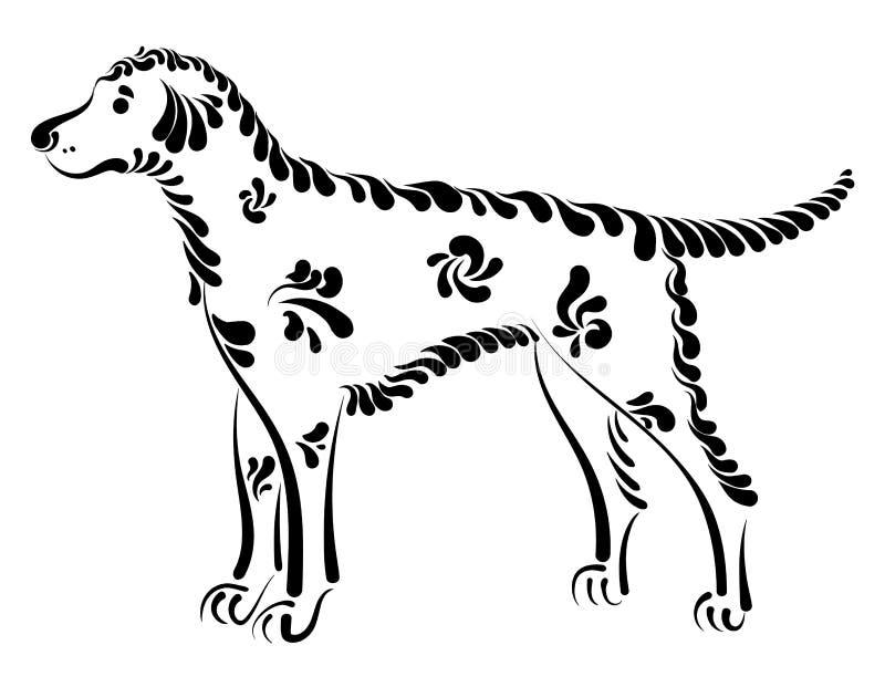 美丽的装饰狗 向量例证