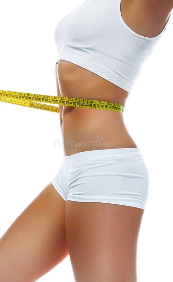 美丽的评定的理想的形状腰部妇女 库存照片