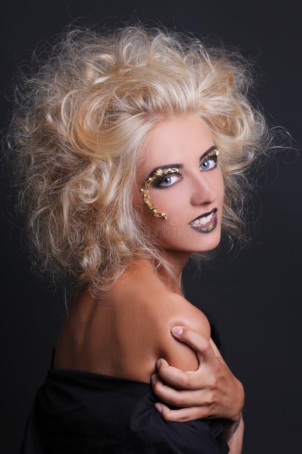 美丽的诱人的blondie女孩画象  免版税库存图片
