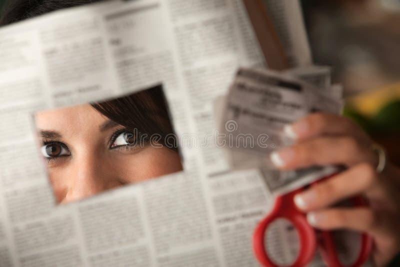 美丽的赠券拉提纳妇女 免版税库存图片