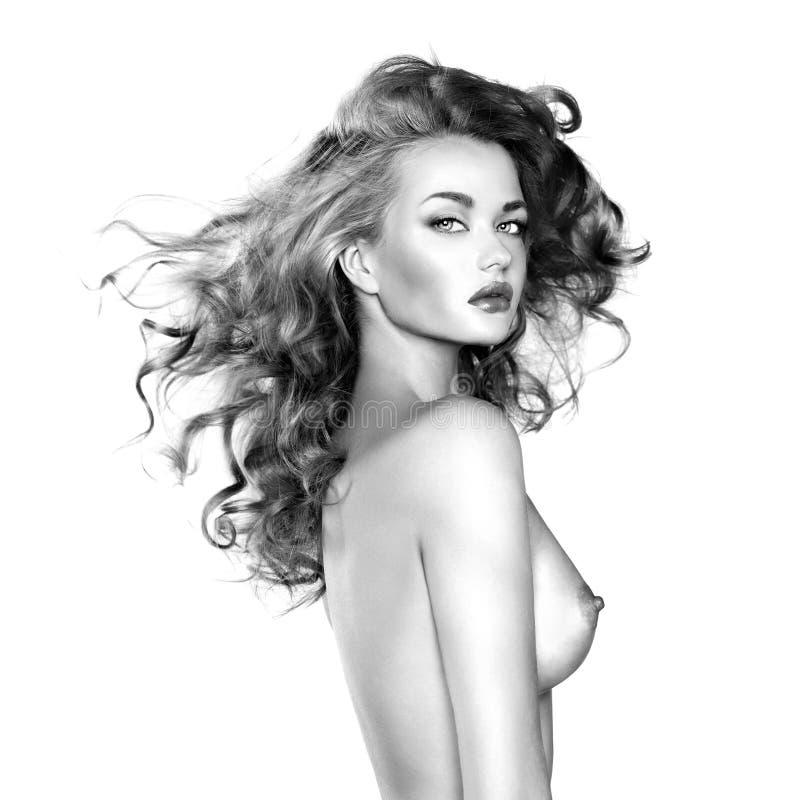 美丽的赤裸妇女 库存照片