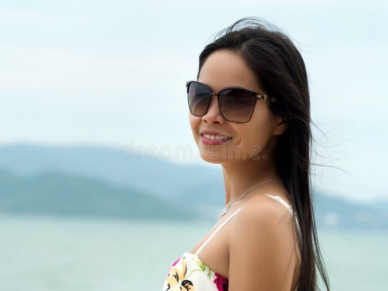 年轻美丽的越南妇女画象  库存照片