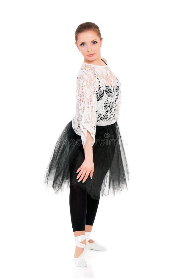 年轻美丽的跳芭蕾舞者 库存图片