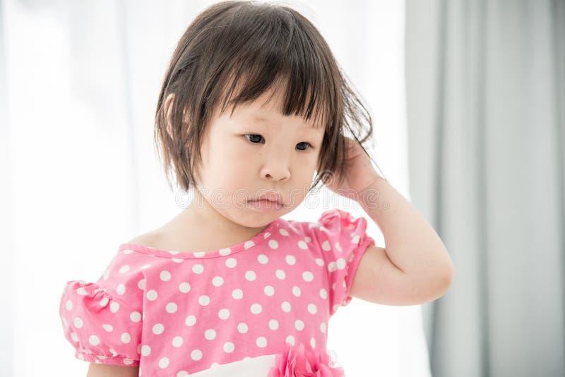 美丽的逗人喜爱的亚洲人特写镜头照片  图库摄影