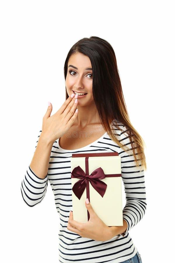 美丽的配件箱礼品藏品妇女 免版税库存照片
