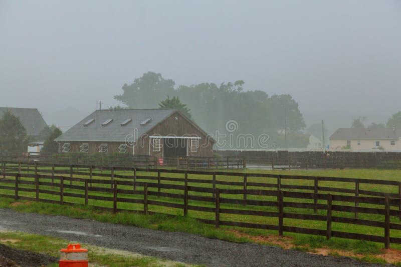 美丽的重的夏天雨 库存图片