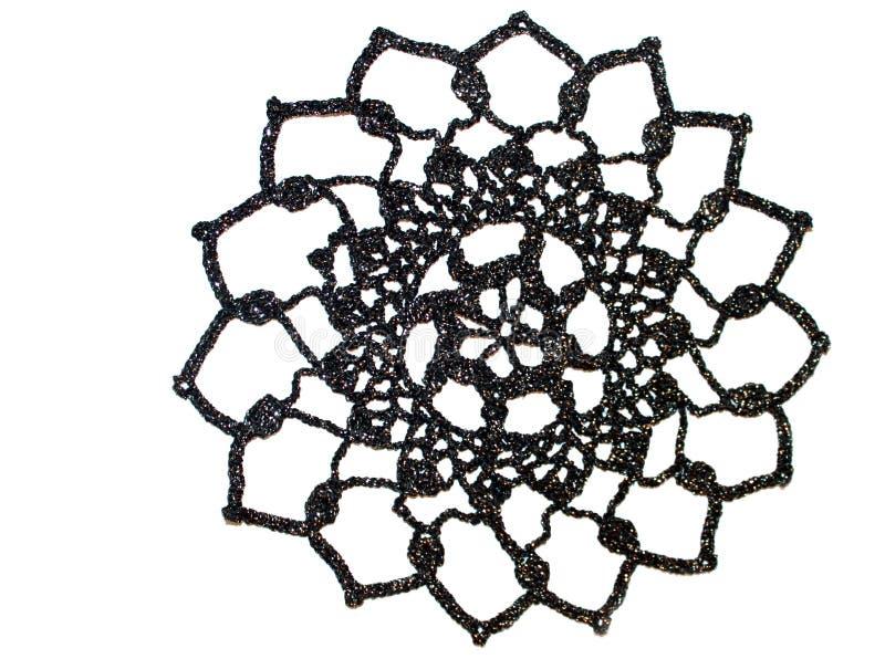 美丽的钩针编织小垫布 免版税库存图片
