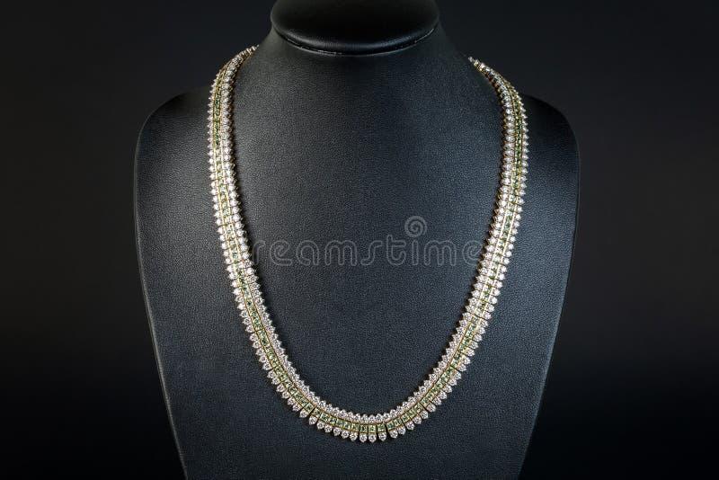 美丽的钻石项链 库存照片