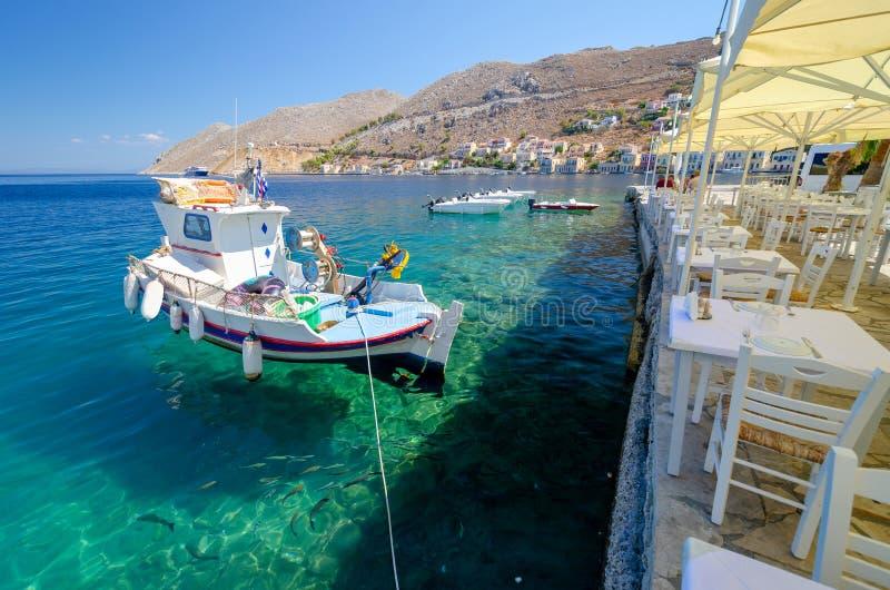 美丽的锡米岛海岛,十二群岛,希腊 库存照片