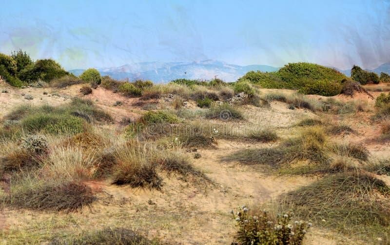 美丽的锥体山在卡帕多细亚土耳其 免版税库存照片