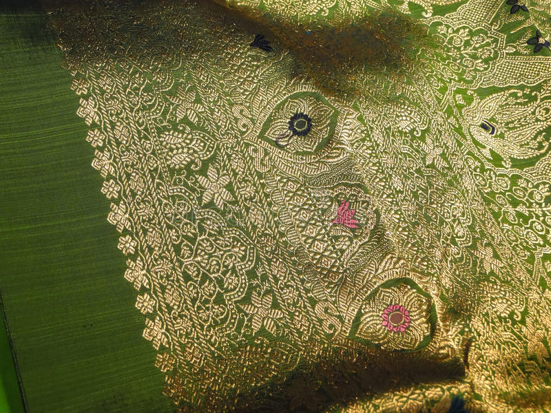美丽的锦织品丝绸 免版税图库摄影