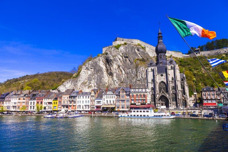 美丽的镇迪南在比利时 免版税库存图片