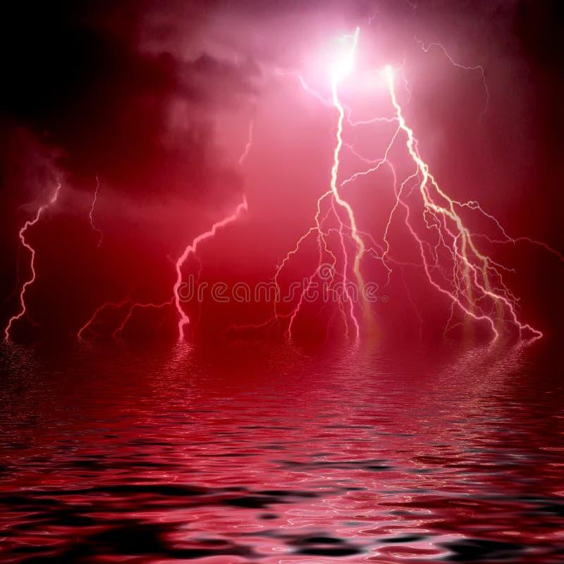 美丽的闪电 向量例证