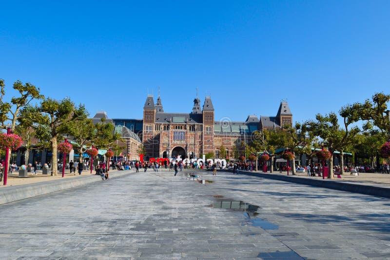 美丽的阿姆斯特丹Rijksmuseum 免版税库存照片