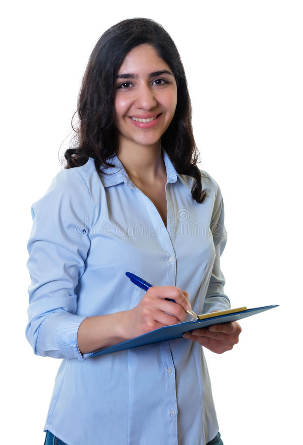美丽的阿拉伯女实业家 库存照片