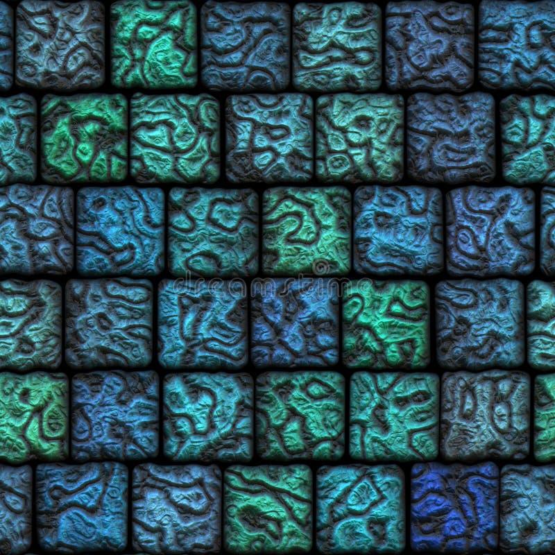 美丽的陶瓷马赛克原始无缝的瓦片 向量例证