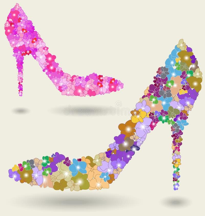 美丽的鞋子妇女 向量例证